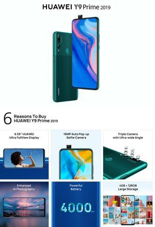 Huawei y9 prime. Precintado