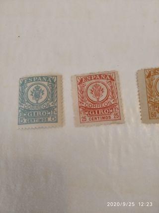 sellos giro postal nuevos diferentes valores