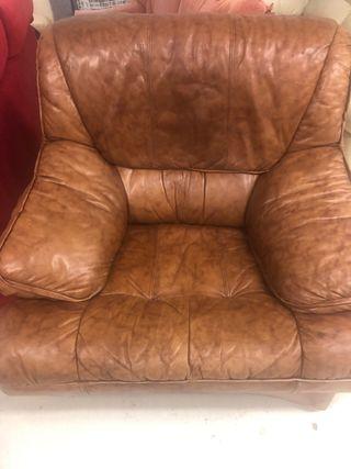 Sofa y sillon de piel