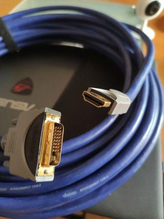 Vendo cable hdmi-dvi, nuevo, 15 metros