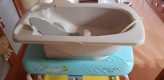 Bañera-cambiador bebé plegable