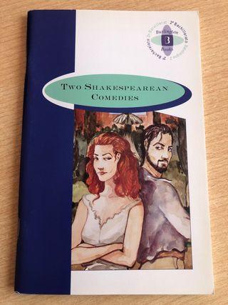 """Libro """"Two Shakespearean comedies"""" 2º Bachillerato"""