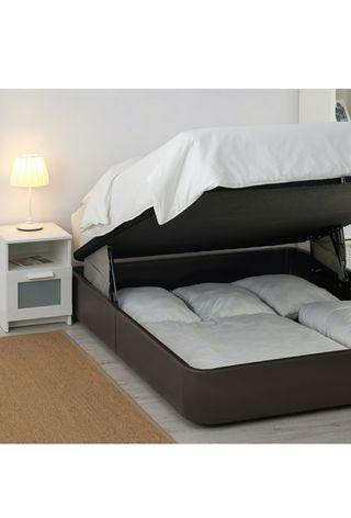 Canape marron KVITSÖY cama 150cm