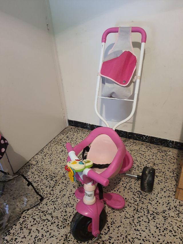 triciclo de niña rosa