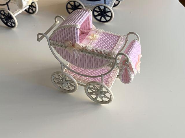 Carrito de bebé casa de muñecas 1:12