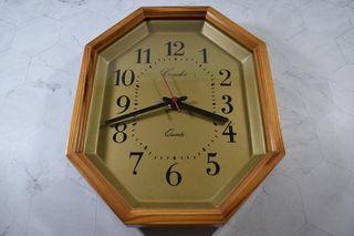 Reloj de pared de madera Quartz