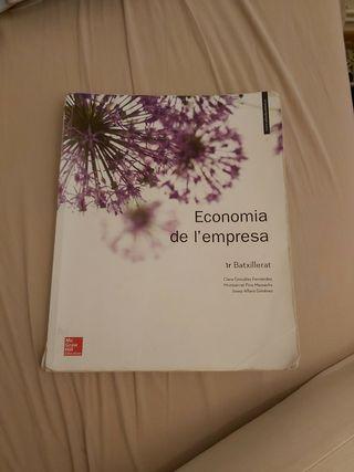 libro economia de empresa 1o bachillerato/batx