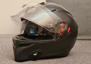 casco moto AGV K3 + intercomunicador