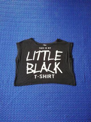 Camiseta crop, talla S, Bershka