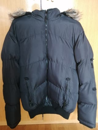 chaqueta negra hombre L