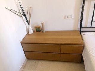 2 Cómodas Ikea Malm madera roble