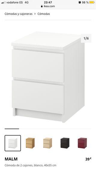 Cómodas serie MALM IKEA