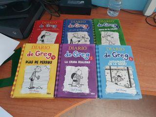 Libros Diario de Greg 1 2 3 4 5 y 6.
