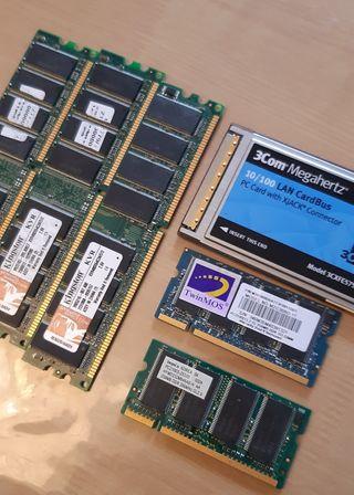 tarjeta de red + memorias