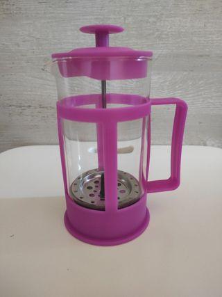 Jarra prensa de té rosa