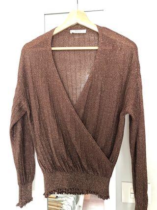 Jersey fino marrón oscuro