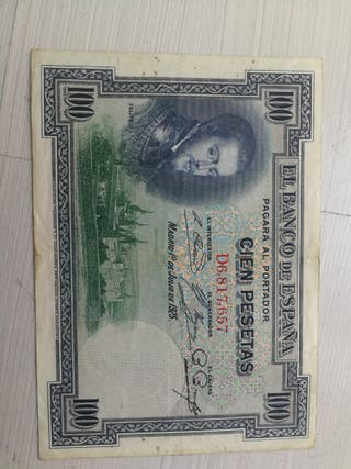 Billete España 1925 100 pesetas