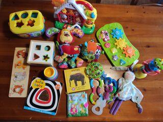 lote 16 juguetes para bebé