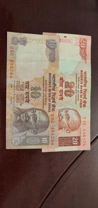 Lote billetes del extranjero