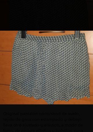 Shorts doble T 38 Mango chica