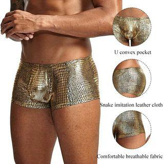 Calzoncillo bóxer Negro oro lujo moda ropa hombre