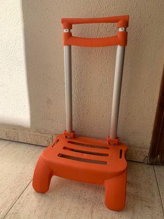Carro mochila escolar naranja BUSQUETS
