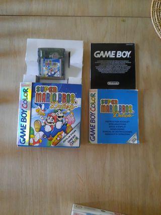 Super Mario Bros Deluxe,Game Boy Color.