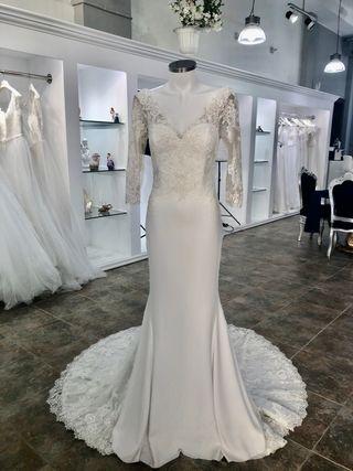Fabuloso vestido de novia