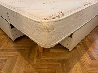 Somier + colchón flex 150 x 190 cm