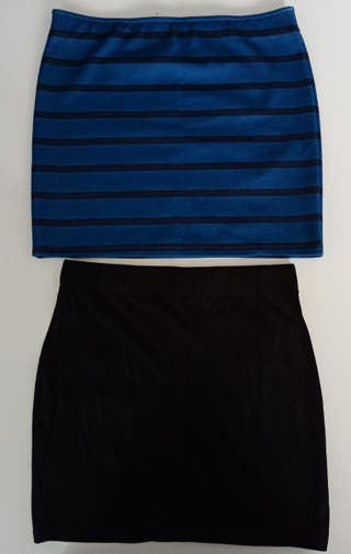 Lote de 2 Faldas / Minifaldas Tubo (Bershka y H&M)