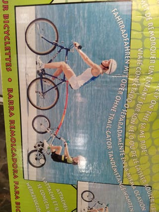 barra remolcadora para bicicleta