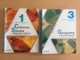 lote libros 1 y 3 ESO anaya geografia i historia