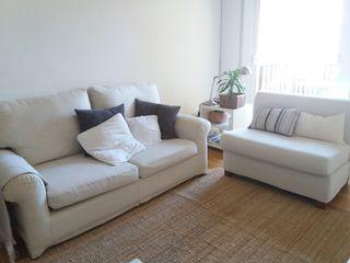 2 sofás a juego por 125 €
