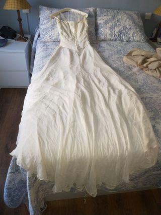 vestido novia talla 38+/-