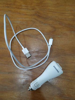 Adaptador USB para mechero coche