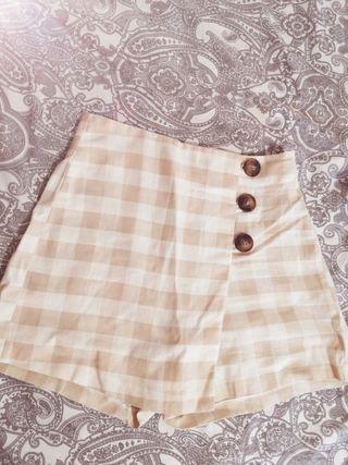 Falda pantalón cuadros