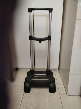 Carro de ruedas plegable para mochila