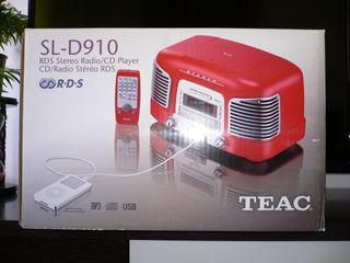 Radio CD TEAC SL-D910 rojo