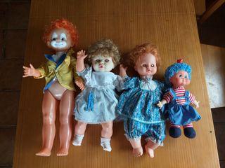 Lote muñecoas antiguos