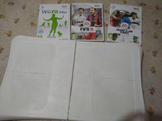 Wii board y 3 juegos para wii