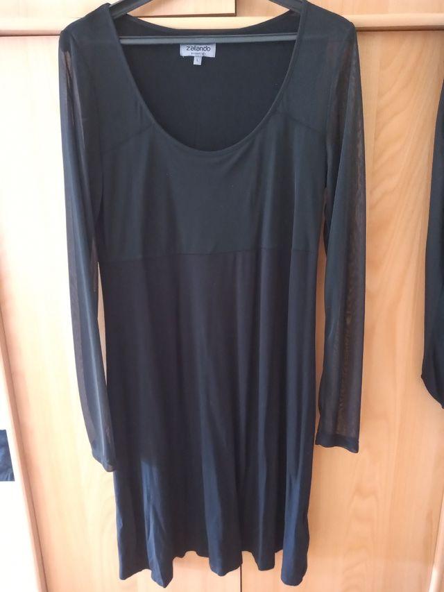 vestido negro liso