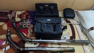 tubo, alforjas, respaldo vn900 custom