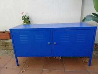 mueble metálico azul