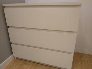 Cómoda malm de Ikea blanca