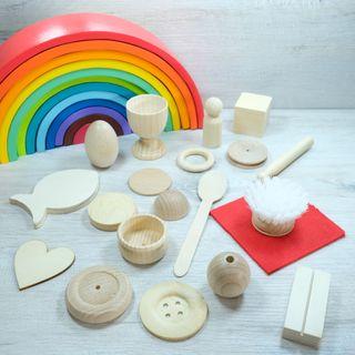 Set 20 piezas para cesta de los tesoros Montessori