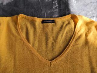 Jersey amarillo de punto fino talla XS