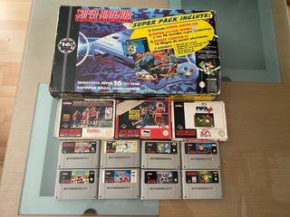 Consola Super Nintendo + 13 Juegos