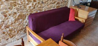 Sofa cama rústico