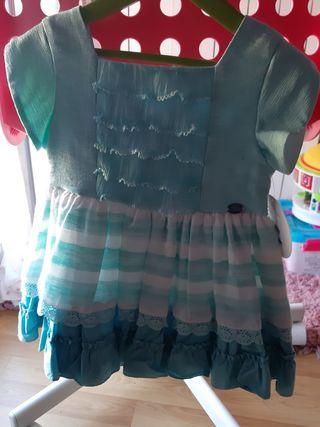 Vestido talla 3 años. Color verde. Sin estrenar