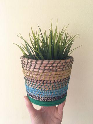 Planta artificial + maceta